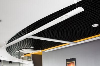 потолок Грильято черный 75х75